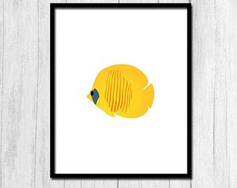 Tropical poissons Print numérique téléchargement plage maison Decor Tropical Print Tropical affiche poisson affiche Instant téléchargement Beach House imprimable
