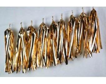 Rose Gold Tassels, Rose Gold Garland, Rose Gold Balloon Tassels, Pkt of 9 Rose Gold Tassels, Metallic Rose Gold Tassels