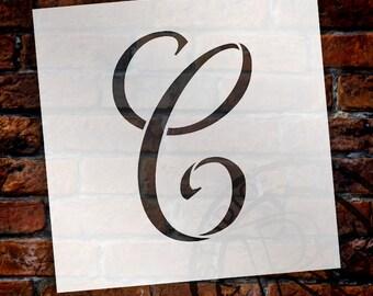 C -Graceful Monogram Stencil - Select Size - STCL1903 - by StudioR12