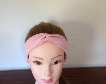 Light Pink Turban Twist Headband