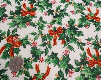 Holly, Ivy and Bows Fabric