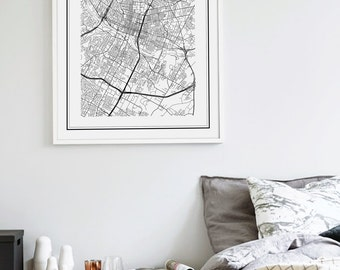 Austin Map Print, Austin Map Poster, Austin Map, Austin Texas Map, Austin, Texas Map, United States Map, Austin Texas Black and White Map