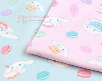 SANRIO Cinnamoroll Macaroon Design / Japanese Fabric 100cm x 50cm