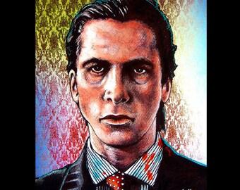 "Print 11x14"" - Patrick Bateman - American Psycho Serial Killer 80s Halloween Gothic Blood Wall Street Death Horror Christian Bale Pop Art"