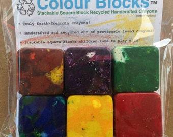 6 Jumbo Size Crayons, Stacks like play blocks