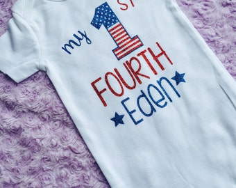 Baby's first Fourth of July. Fourth of July. Baby girl Fourth of July. 4th of July baby. Baby's first 4th of July.