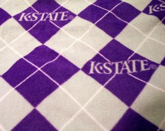 Tissu d'ouatine de Kansas State Wildcats - 1/2 yard reste