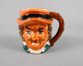 Toby Mug Man in Orange Hat Handpainted Ceramic Mug