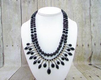 Garnet Double Strand Necklace
