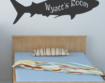 Kid's Name Shark Sea Animal Decal - Wall decals - Ocean Decals - Boys Girls Room Decal - Sharks - Kids Decals - Decals -Sea Animals