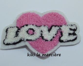 patch, applique, patch Terry heart love pink sewing