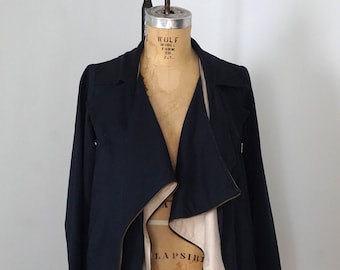 X.S.M.L. Asymmetric Sculptural Zip Jacket M