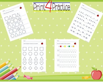 Pattern Practice, pattern worksheets, practice worksheets, kindergarten worksheets, pre-k worksheets, patterns, worksheets, practice