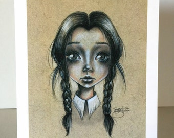 Wednesday Addams 5x7 Print