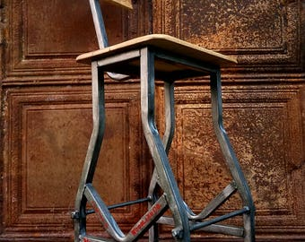 Industrial Metal Counter/ Bar Stool - Choose Height