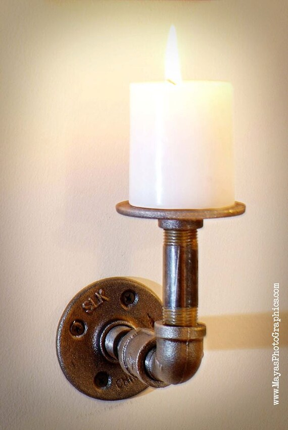 Items Similar To Modern Industrial Pipe Steam Punk Candle
