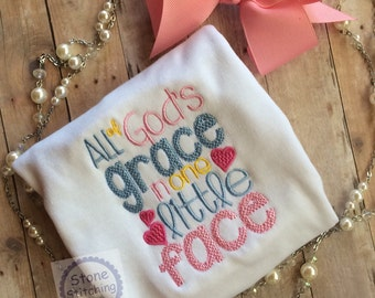 all of God's grace, christian baby gift, cute baby gift, pastor baby gift