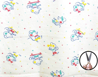 Tubular terry cloth by the yard BTY 66'' Mini mice design Create clothing Free PDF pattern for kids with the purchase of sewing fabrics