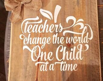 """12""""x12"""" Teacher Sign"""
