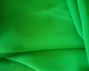 "Green Poly Chiffon Fabric 60"" Wide  15 Yards Wholesale"