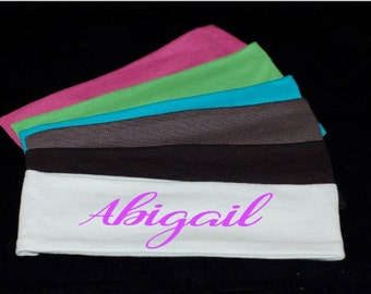 """Stretchy Personalized monogrammed custom cotton headbands 2.5"""""""