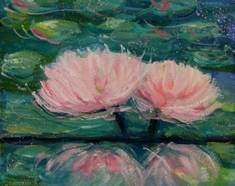 Unity - Original Water Lilies Painting