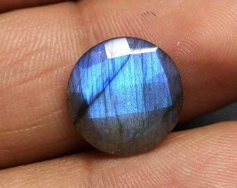 60% OFF - Round Labradorite Round Cut Blue Flash Labradorite Gems 14x14x5 mm 7.25 Carat (T-138)