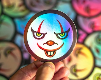 Pennywise inspired Sticker, IT, IT The Movie, Red Balloon, Spooky Sticker, Halloween Stickers, Horror Stickers, Pennywise Decal Stickers