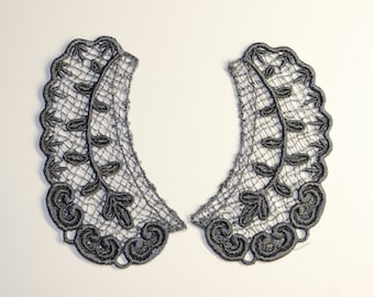 Lace Collar in GUN METAL GRAY for 18 inch dolls such as American Girl #CR29