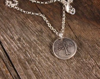 Sterling Silver Wax Seal Growing Tree Charm