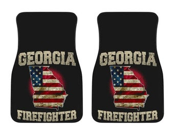 Georgia/Firefighter/American Flag/Car/Truck/SUV/Auto/RV/Floors Mats/Gifts/State Flag/Art/Home