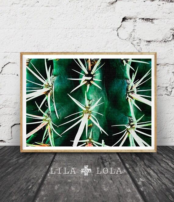 Cactus Photo Print, Arizona Desert Photo, Botanical Wall Art, Western Decor, Green Plant, Printable Instant Download, Large Poster Art