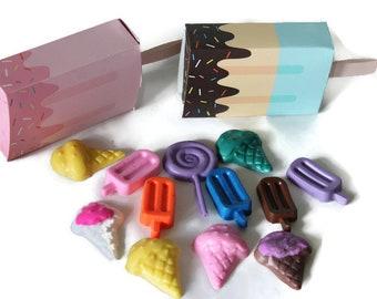 mini soap, soap, soap collection, ice cream box, party favors, kids soap, kids party favors, ice cream soap, novelty soap, soap favors