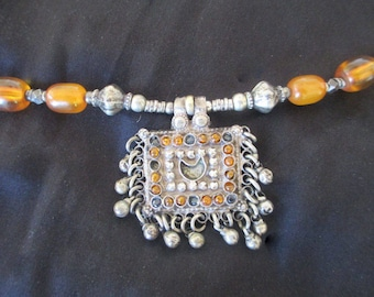 """Antique Necklace Over A Century Old 20"""" - From Afghanistan"""