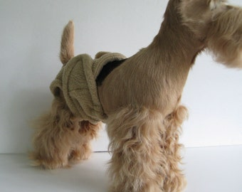 POOCHIE PANTZ tan female dog diaper, custom made, size X-SMALL