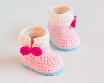 CROCHET PATTERN - Crochet Baby Booties Baby Unicorn - Baby Shoes - PDF