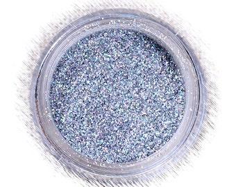 Silver Hologram Disco Glitter, Fine Silver Glitter, Non Edible Confectionary Glitter, Decorative Gumpaste Glitter, Fondant Glitter (5g)