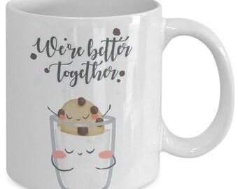 Together gift mug, Together love mug, Girlfriend coffee mug, Boyfriend coffee mug, Valentine gift mug, Valentine coffee mug, Romantic mug