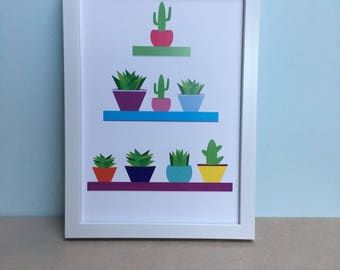Plants in a Row Art Print
