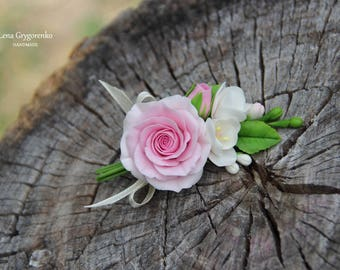hair accessory, roses jewelery, hair roses, bridal flowers, wedding hair, bride hair accessory, groom gift, wedding headpiece, flower brooch