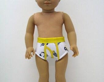 """18 Inch Boy Doll Clothes - Boy Doll Underwear - Clothes for AG Boy Doll - Truck - Yellow - 18 Inch Boy Doll Underwear - 18"""" Boy Doll Clothes"""