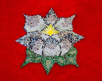 Mosaic Lotus Blossom Stained Glass Art Gifts Under 50