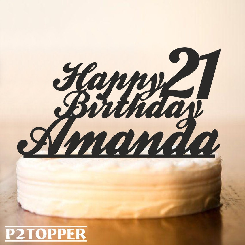 Custom Birthday Cake Topper 21st Birthday Cake Toppercake