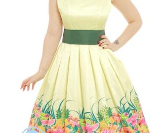 Wool Watermelon Swing Dress