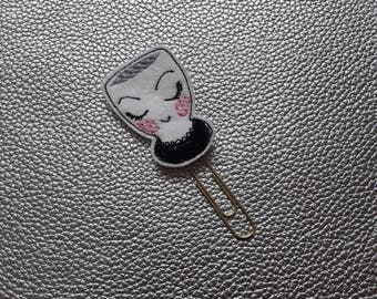 Adorable Posh Cup Planner Bookmark. Planner Feltie Clip.  Paperclip.  Felt Clip. Planner Gifts.  Stationery.  UK SELLER!