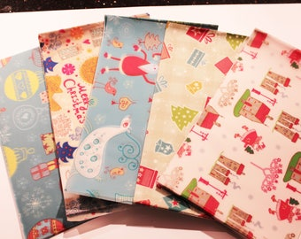 98 sheets of waxed paper - patterned Christmas