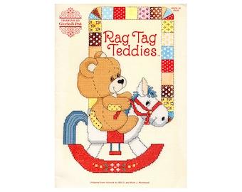 Rag Tag Teddies Cross Stitch Booklet, Gloria & Pat Cross Stitch Booklet, Children Cross Stitch Patterns, Children's Patterns, Baby Patterns