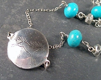 Maisie Turquoise and Sterling Silver Necklace