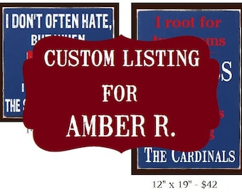 Custom LISTING for AMBER R. Cub Inspirational Signs (2) - SignsbyDenise