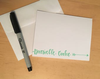Personalized Stationary Set of 12 Notecards